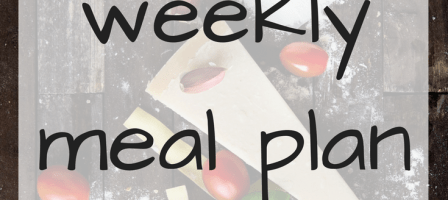 Our weekly meal plan – 25/09/17