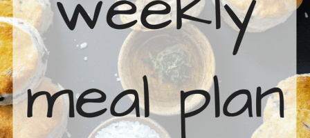 Our weekly meal plan – 04/09/17