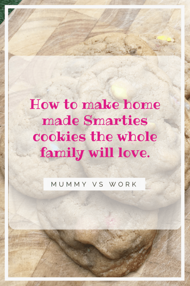How to make home made Smarties cookies the whole family will love.