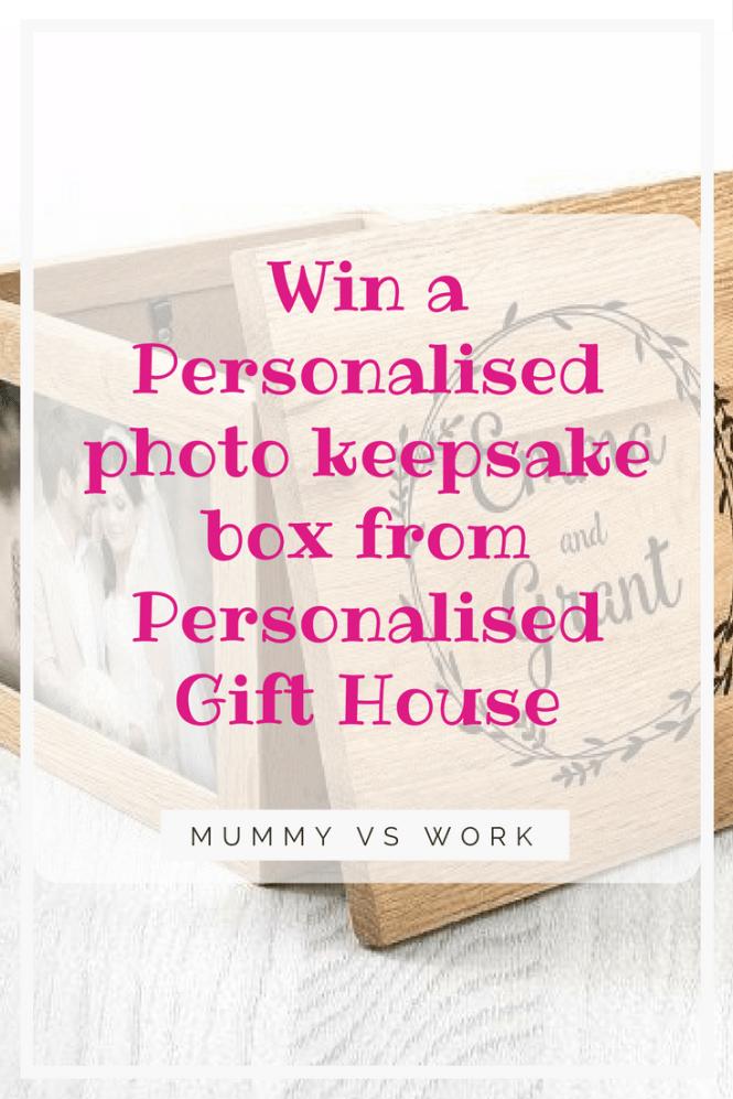 Win Personalised photo keepsake box from Personalised Gift House
