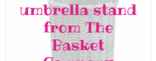 *Prize Draw* Grey Wash Wicker Round Umbrella Basket Stand