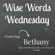 Wise Words Wednesday with Bethany