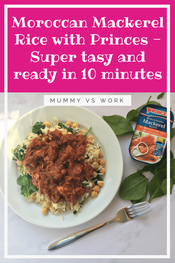 Moroccan Mackerel Rice with Princes - Super tasy and ready in 10 minutes