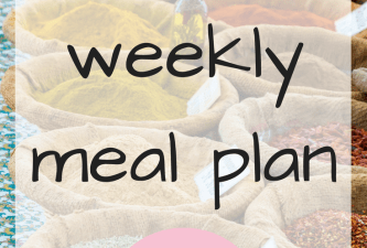 Our weekly meal plan – 12/02/2018
