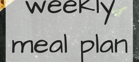 Our weekly meal plan – 23/07/18