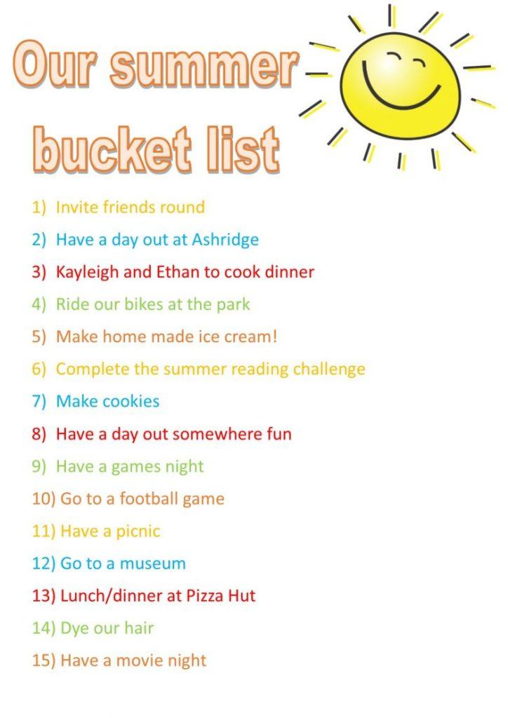 Summer bucket list - #MVWBucketList