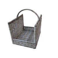*Prize Draw* Grey & buff rattan open ended wicker log basket