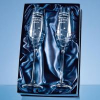 *Prize draw* Pair of Personalised Swirl and Swarovski Crystal Champagne Flutes
