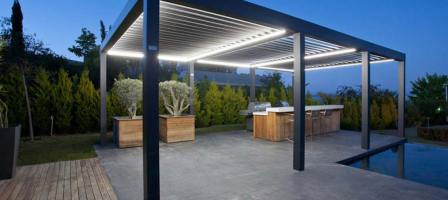 Enjoy outside living with a retractable roof