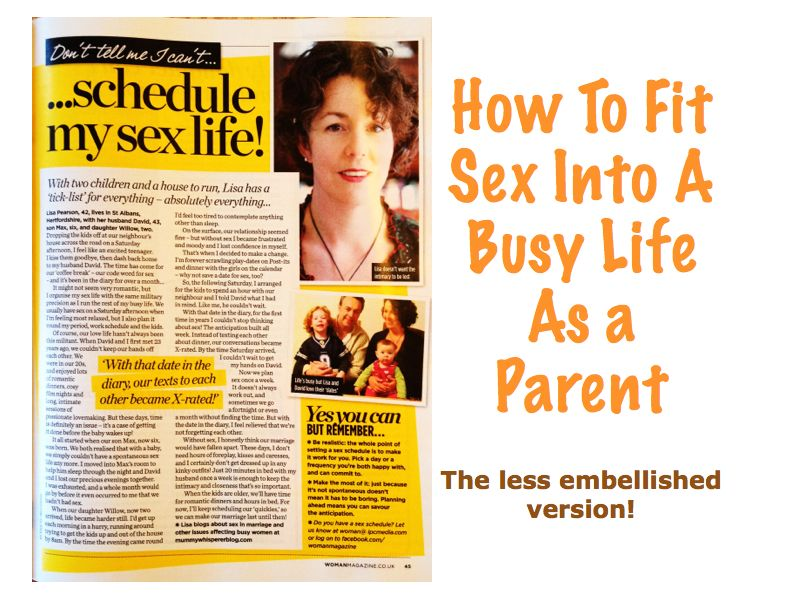 How to fit sex into a busy life as a parent?