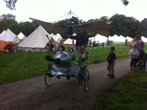 Flying Bike At Festival