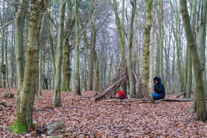 Mum and child in the woods