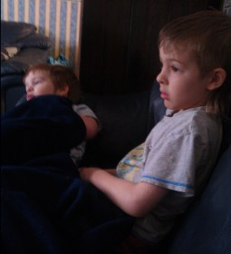 lazy saturday morning cuddles and cartoons