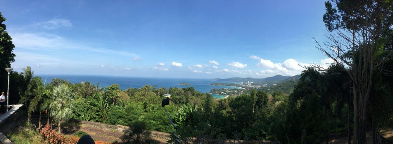 Toddler Visiting Phuket Thailand - Panaramic View