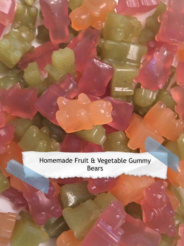 Homemade Fruit and Vegetable Gummy Bears