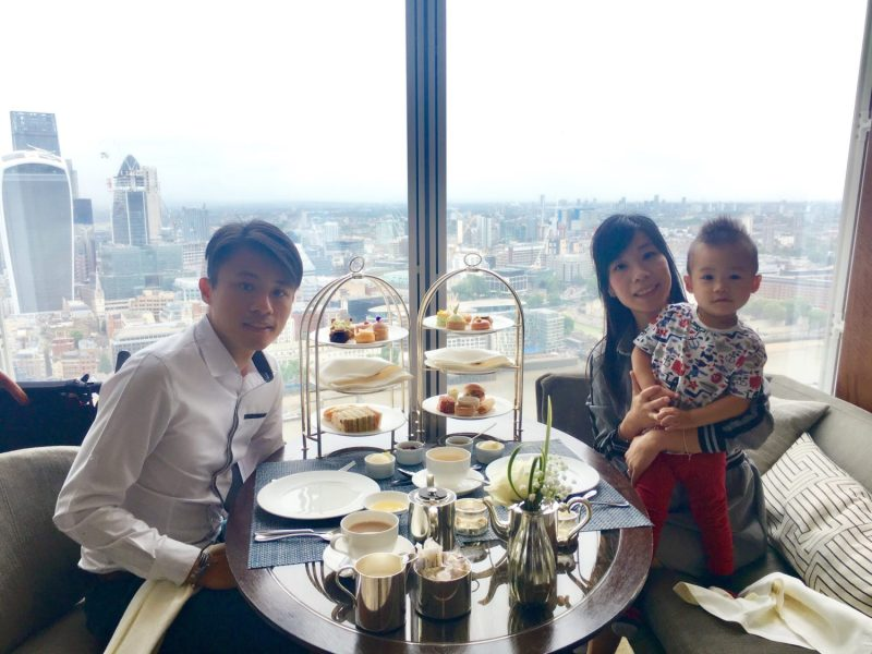 Tradition and Asian Inspired Afternoon Tea overlooking London's Skyline