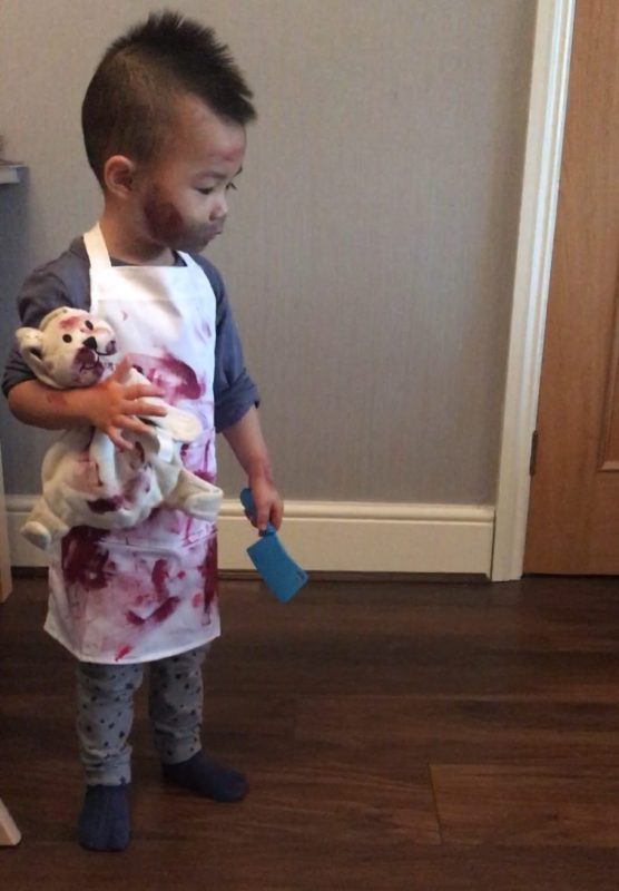 Toddler chef/butcher halloween costume