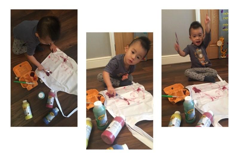 little chef turn artist - Crayola Washable Ready Mix Paint