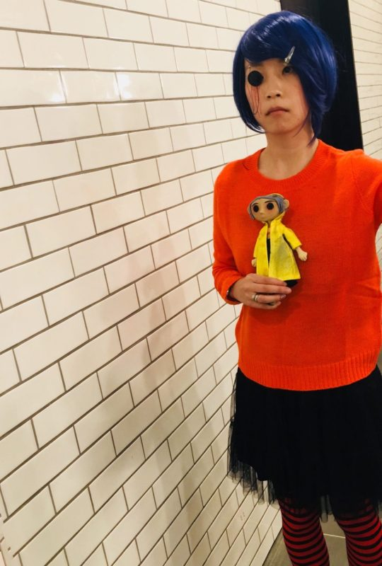 Fuller view of Coraline Halloween Outfit