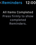 Reminders on the Apple Watch