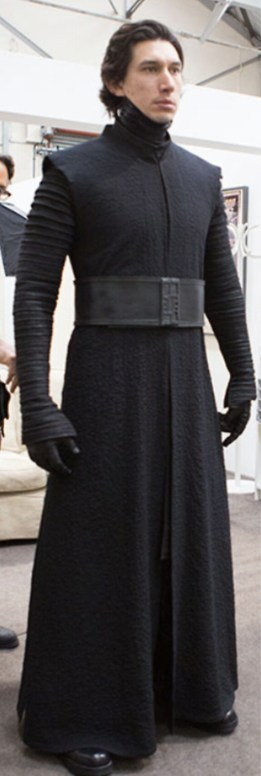 Kylo costume fitting
