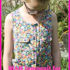 What she wore: Floral jumpsuit for summer