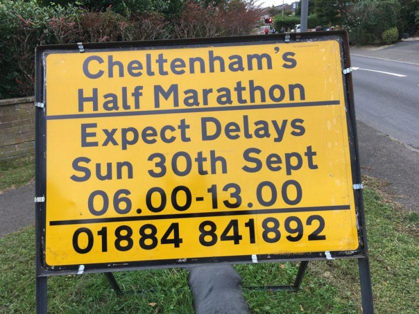 Cheltenham half marathon, Road sign, Silent Sunday, My Sunday Photo
