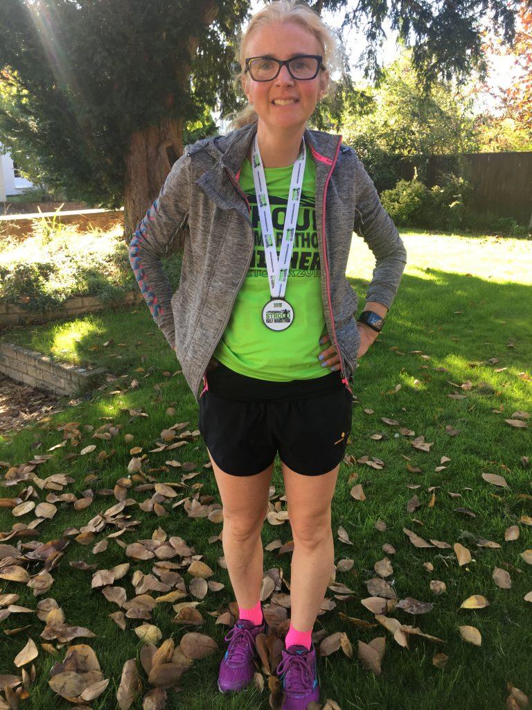 Stroud half marathon 2018, Finish medal, Selfie, Runner
