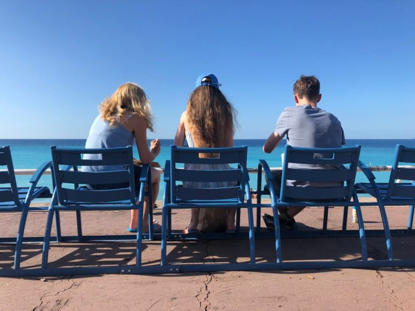 Holiday, Nice, Blue sky, Daughter, Son,