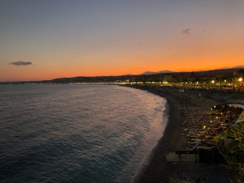 Sunset, Nice, France, Silent Sunday, How much does it cost to stay in Nice