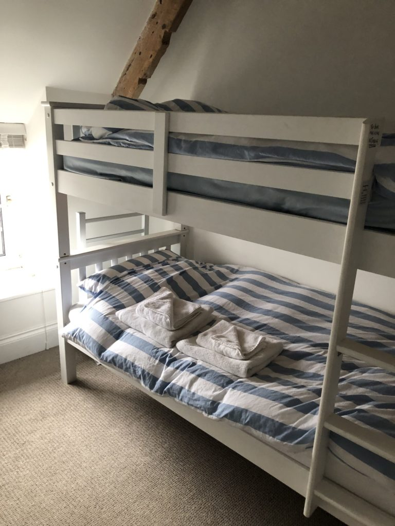 Bunks beds, Airbnb, Padstow, Our first Airbnb experience