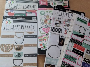 Pile of happy planner sticker pads