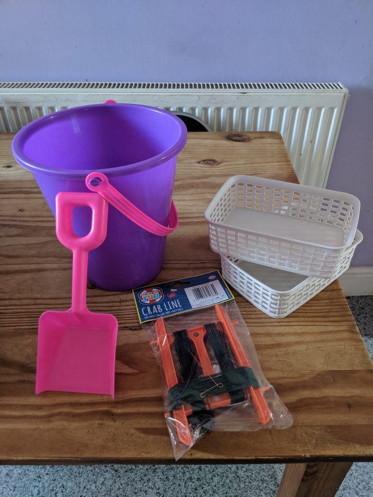 the items for crabbing