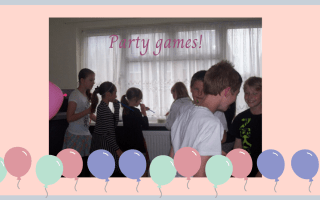 older children playing move the bean party game