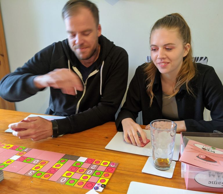 Lauren and James playing game of ham