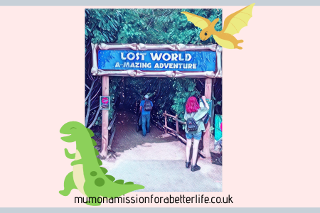 Entrance to the maze in Roarr! Dinosaur adventure.