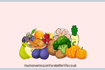A montage of Autumn foods