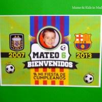 Fiesta de cumpleaños - Tema futbol