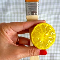 #elretopinterest - DIY Paños de cocina pintados con fruta