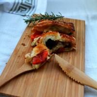 Hojaldre de verduras asadas - Reto #Asaltablogs