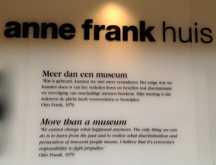 Quote from Anne Frank's father, Otto