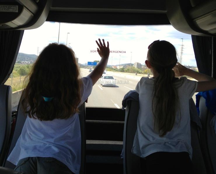 Leaving the Costa Brava. Copyright Gretta Schifano