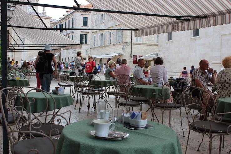 Café in Dubrovnik. Copyright Gretta Schifano