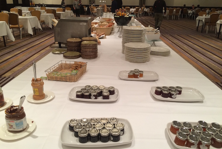 Breakfast at the Hilton Metropole London. Copyright Gretta Schfano