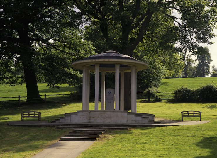 Magna Carta Memorial, Runnymede. Image courtesy of Andrew Butler NTPL