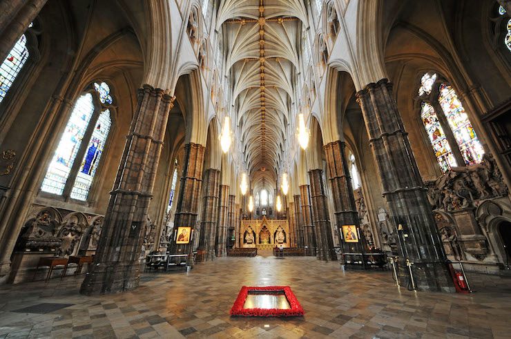 Interior of Westminster Abbey. Image courtesy of Jim Dyson, Westminster Abbey