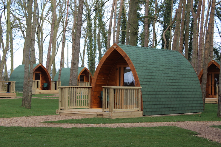 Port Lympne Camping Pods