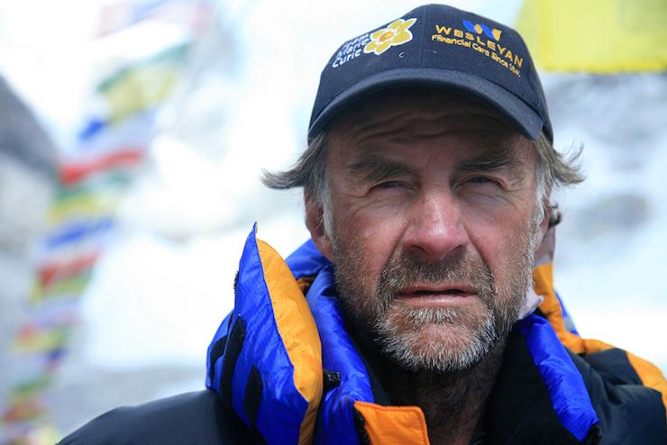 Sir Ranulph Fiennes, Everest 2008. Image copyright Liz Ensor