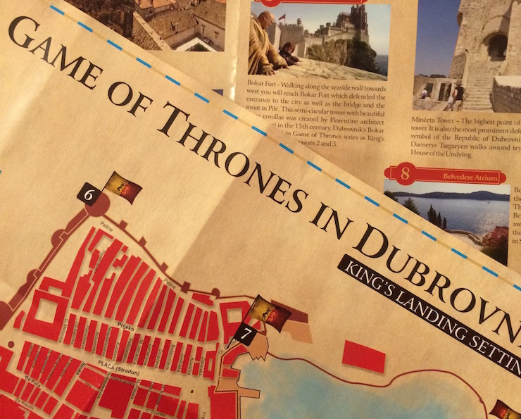 Game of Thrones in Dubrovnik map
