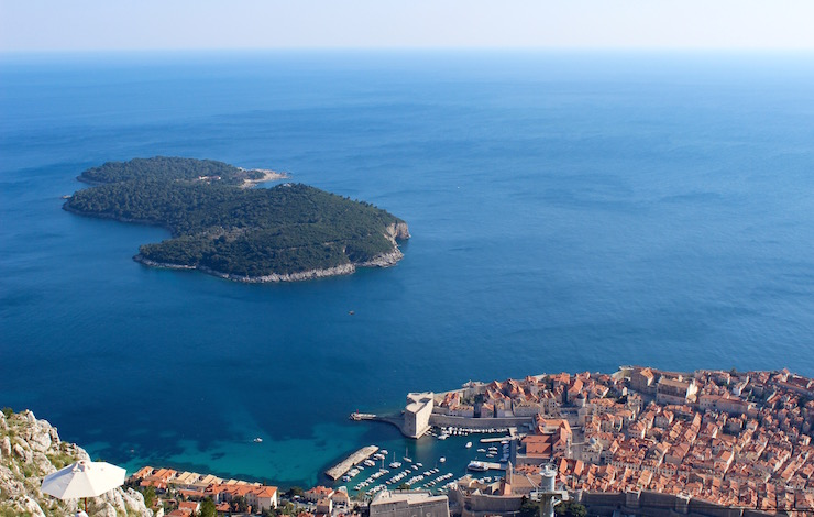 View of Dubrovnik from cable car station. Copyright Gretta Schifano